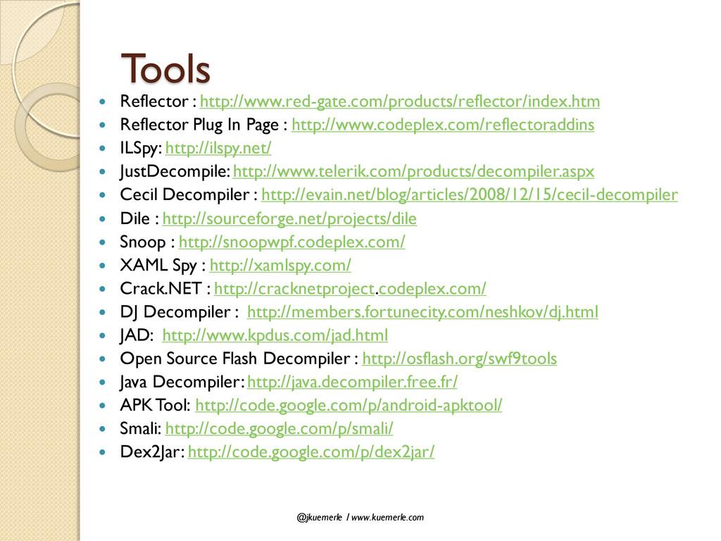 @jkuemerle / www.kuemerle.com Tools  Reflector...