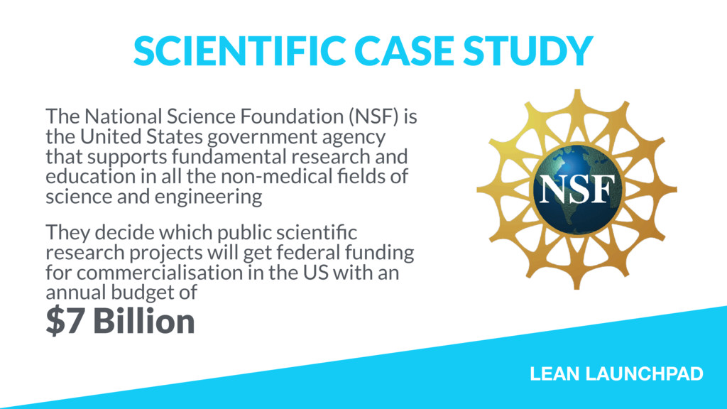 LEAN LAUNCHPAD SCIENTIFIC CASE STUDY The Nation...