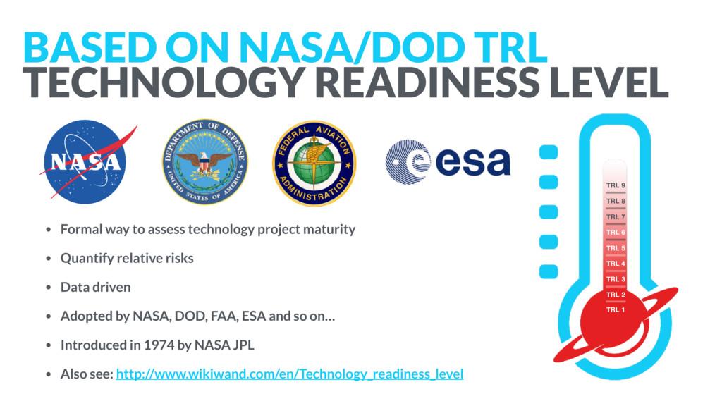 BASED ON NASA/DOD TRL TECHNOLOGY READINESS LEV...