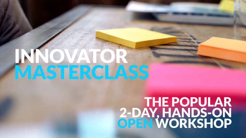 INNOVATOR MASTERCLASS 