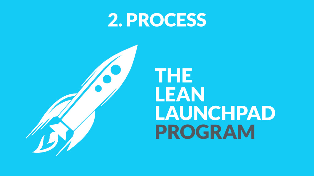 2. PROCESS THE LEAN LAUNCHPAD PROGRAM