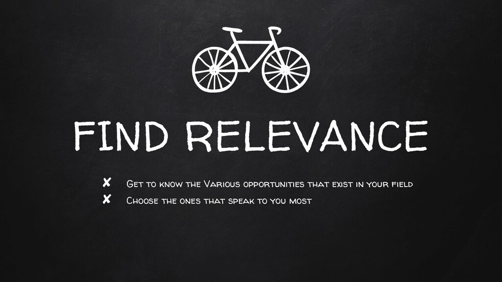FIND RELEVANCE ✘ Get to know the Various opport...