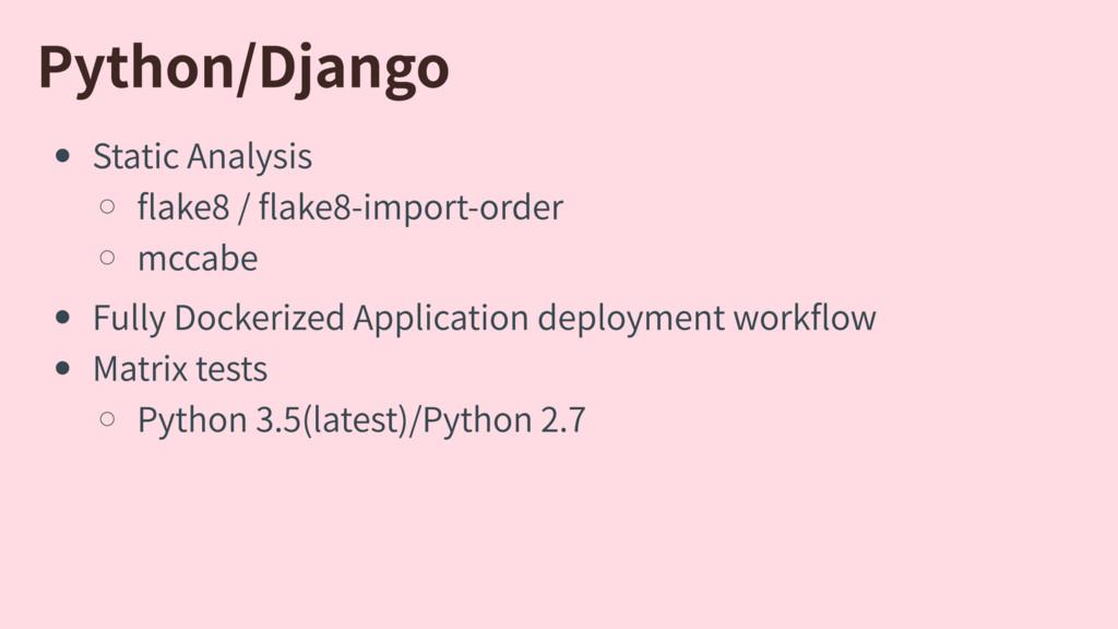 Python/Django StaticAnalysis ake8/ ake8-impo...