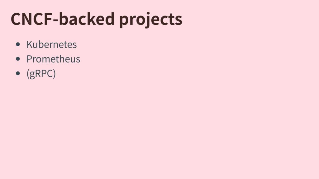CNCF-backedprojects Kubernetes Prometheus (gRP...