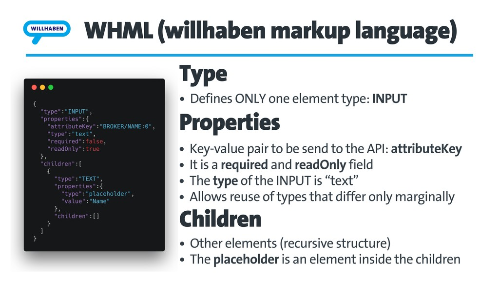WHML (willhaben markup language) • Key-value pa...