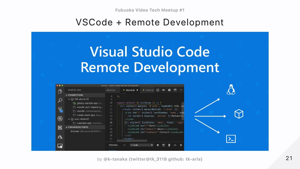 VSCode + Remote Development 21 21 Fukuoka Video...