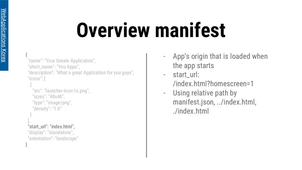 - App's origin that is loaded when the app star...