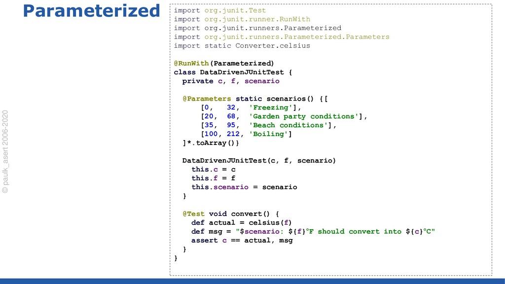 © paulk_asert 2006-2020 Parameterized import or...