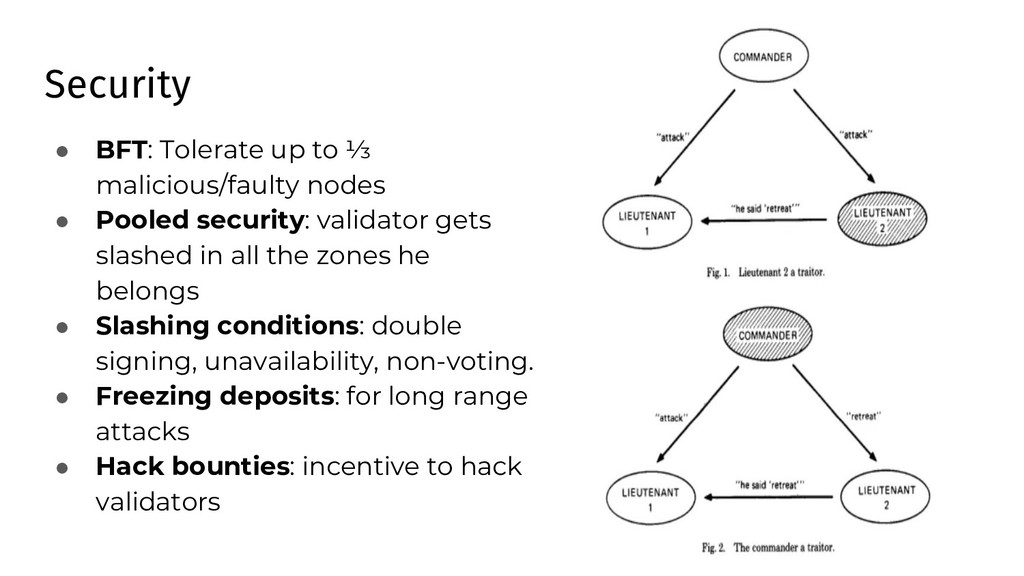 Security ● BFT: Tolerate up to ⅓ malicious/faul...