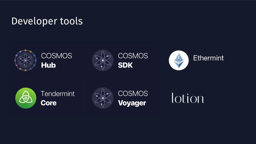 Developer tools Ethermint lotion