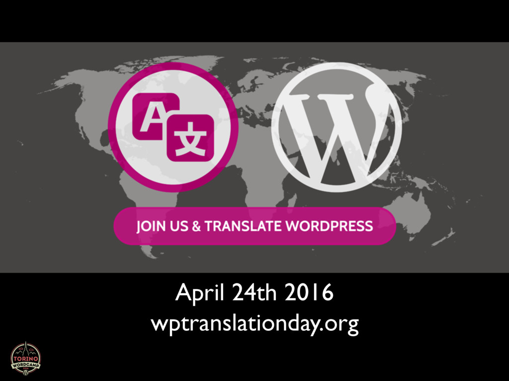 wptranslationday.org April 24th 2016