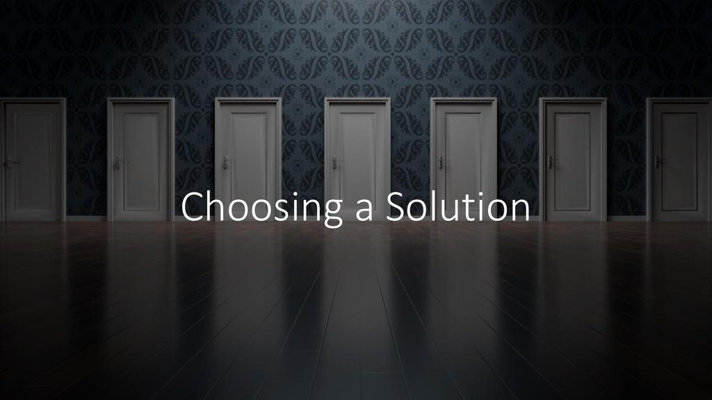 @ManfredSteyer Choosing a Solution