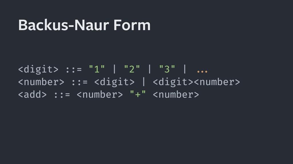 Backus-Naur Form