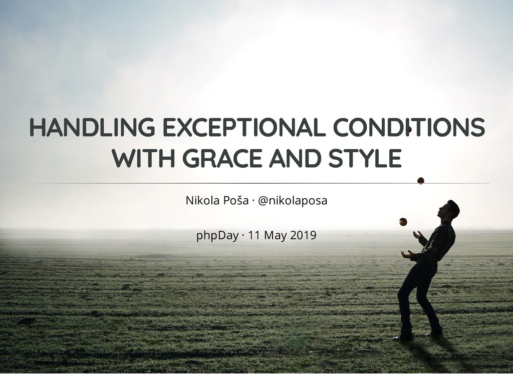 HANDLING EXCEPTIONAL CONDITIONS HANDLING EXCEPT...
