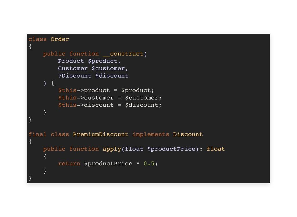 class Order { public function __construct( Prod...