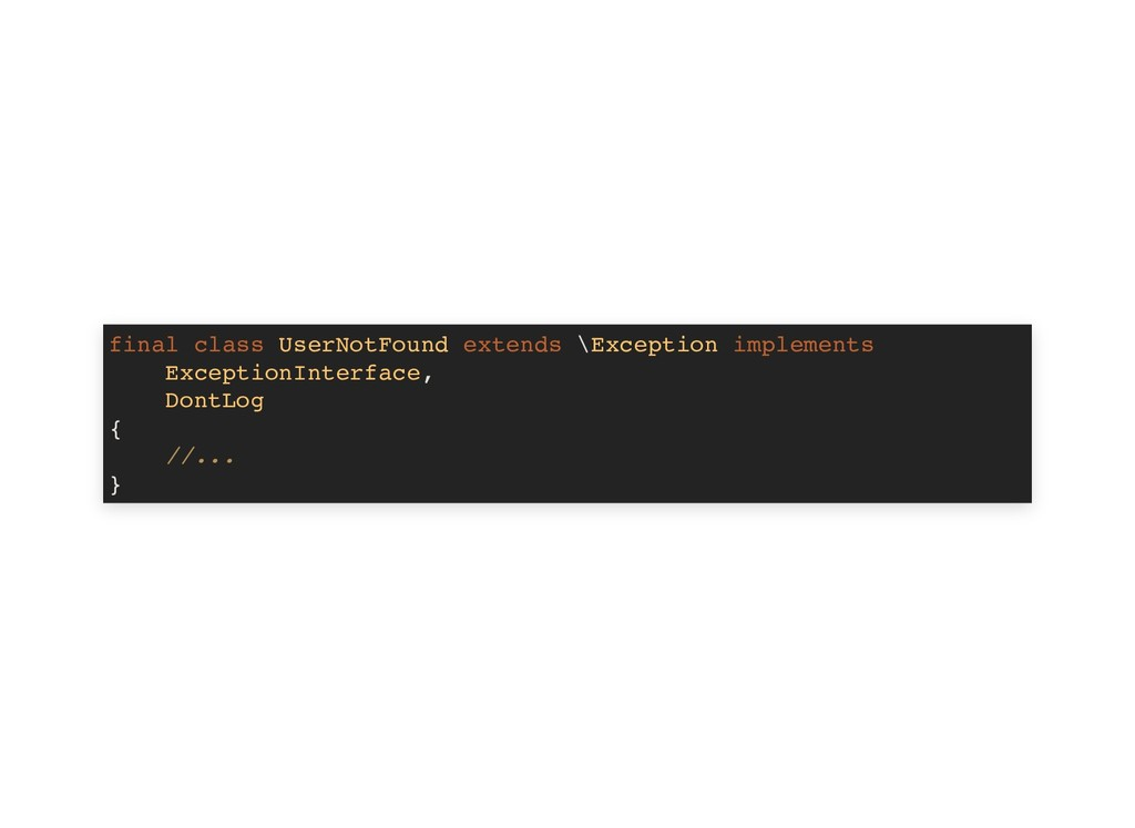 final class UserNotFound extends \Exception imp...