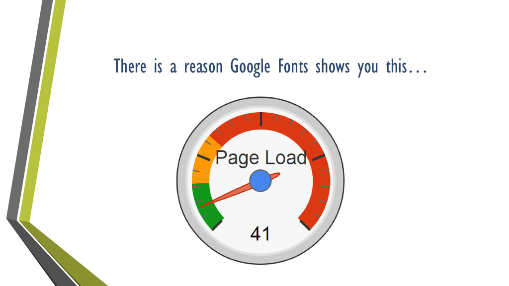 There is a reason Google Fonts shows you this…