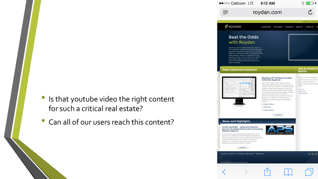 • Is that youtube video the right content for s...