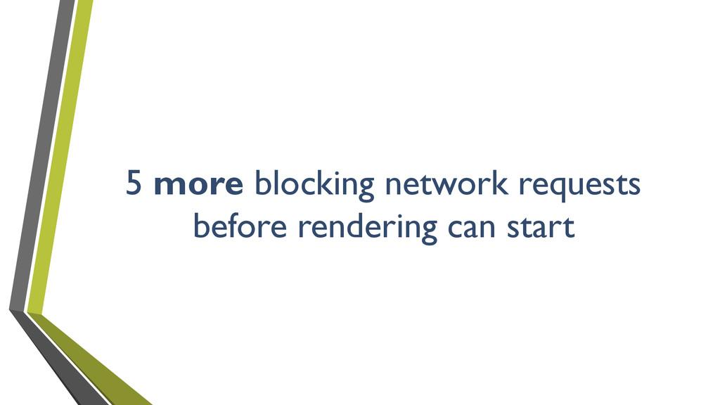 5 more blocking network requests before renderi...