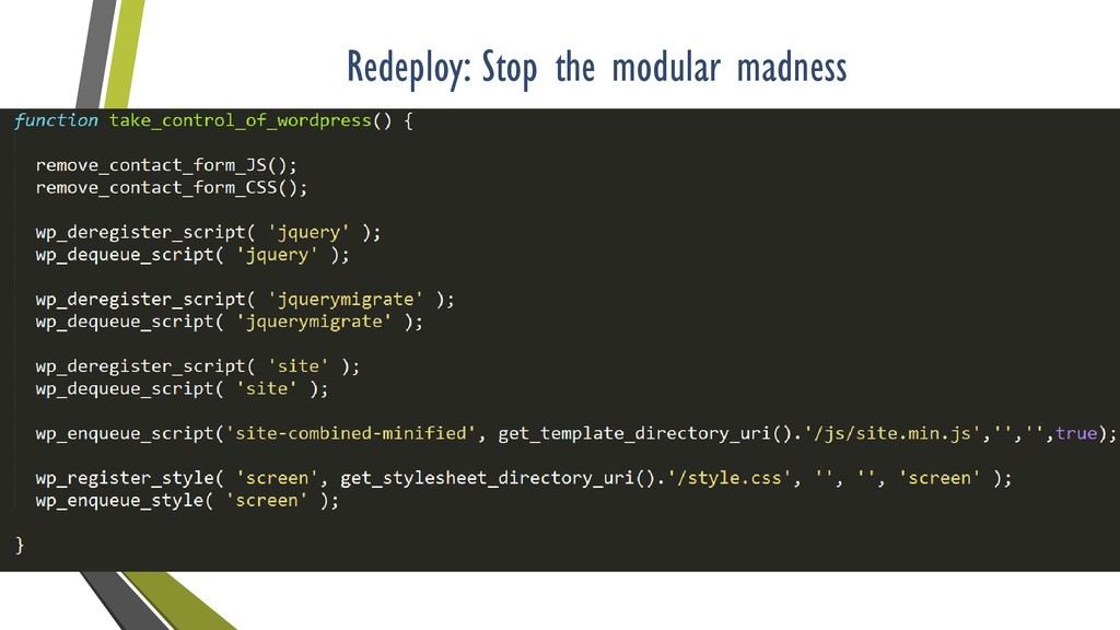 Redeploy: Stop the modular madness