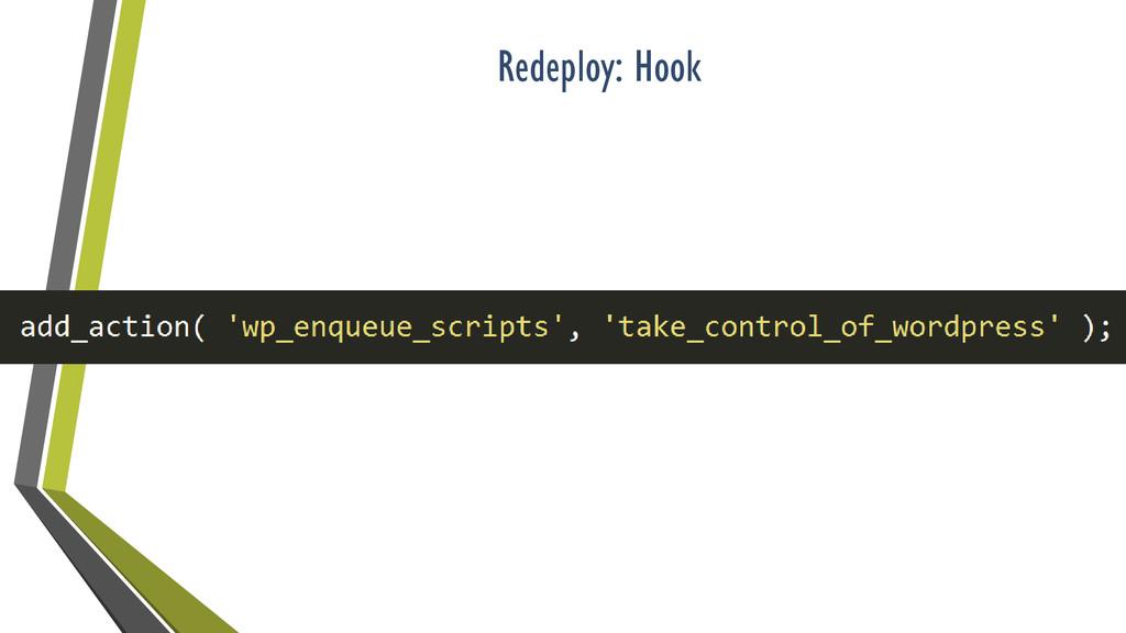 Redeploy: Hook