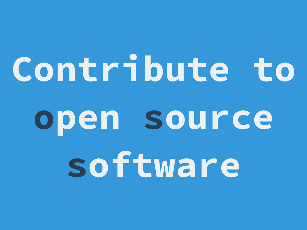 Contribute to open source software