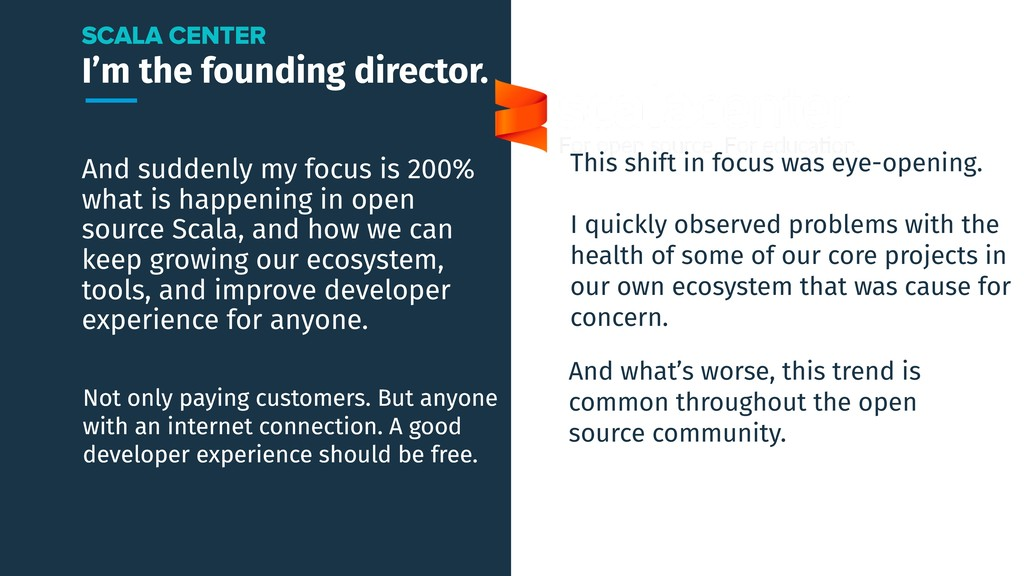 I'm the founding director. And suddenly my focu...