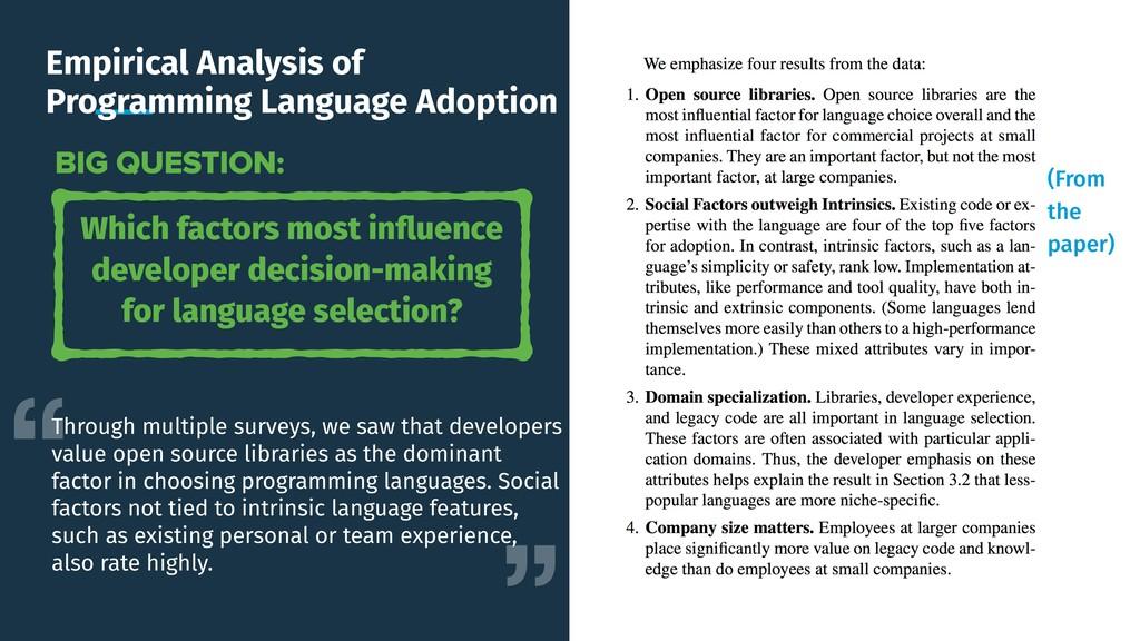 Empirical Analysis of Programming Language Adop...