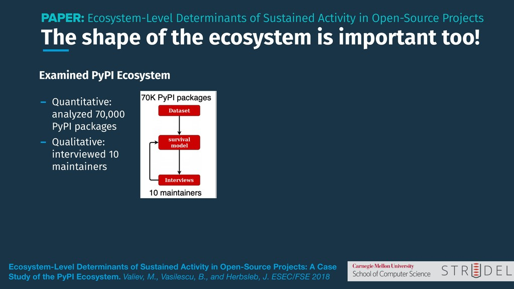 The shape of the ecosystem is important too! PA...