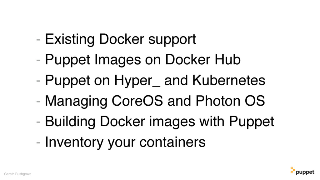 - Existing Docker support - Puppet Images on Do...