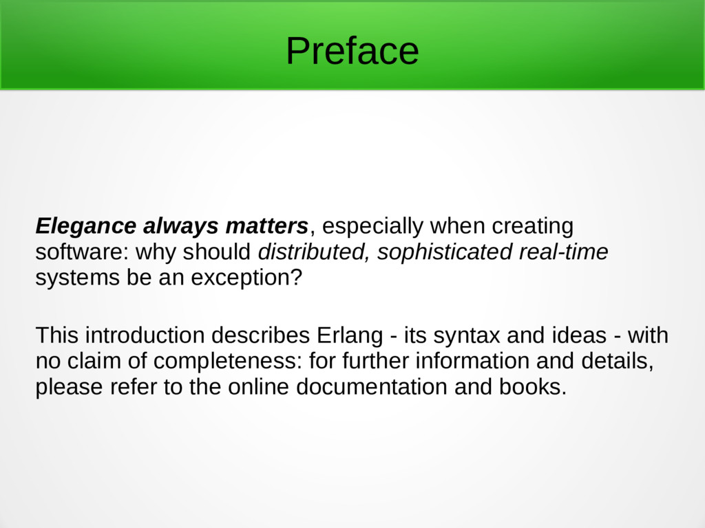 Preface Elegance always matters, especially whe...