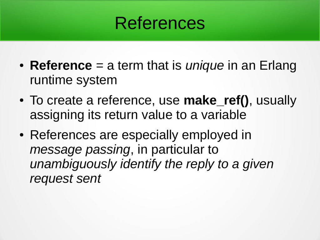 References ● Reference = a term that is unique ...