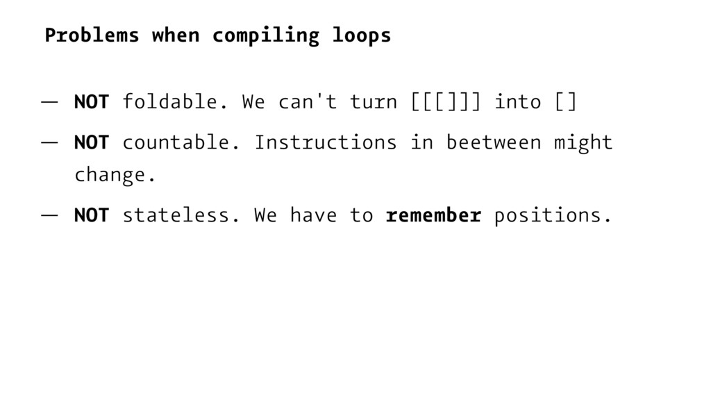 Problems when compiling loops — NOT foldable. W...