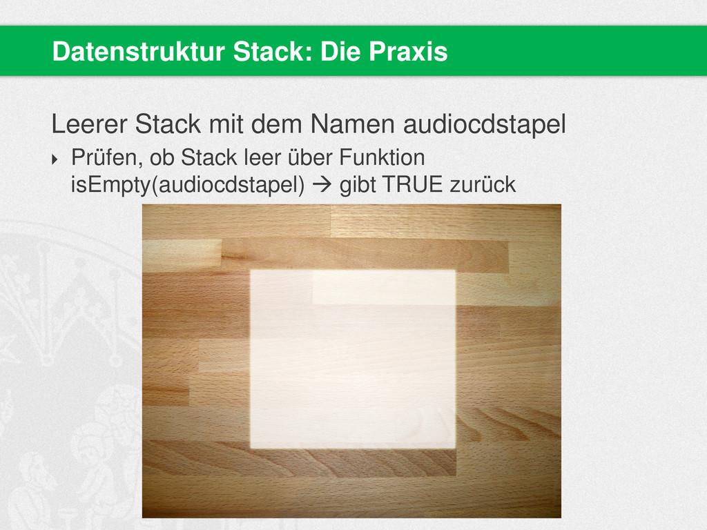 Leerer Stack mit dem Namen audiocdstapel  Prüf...