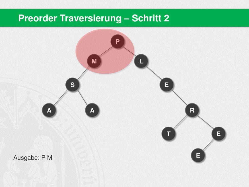 Preorder Traversierung – Schritt 2 P M S A A L ...