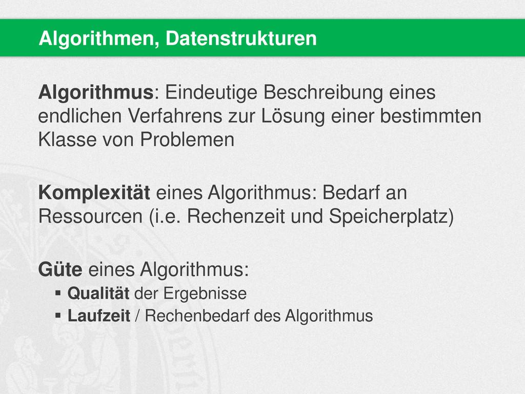Algorithmus: Eindeutige Beschreibung eines endl...