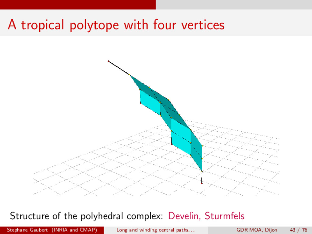 A tropical polytope with four vertices Structur...