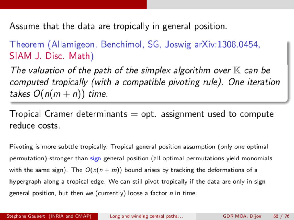 Assume that the data are tropically in general ...