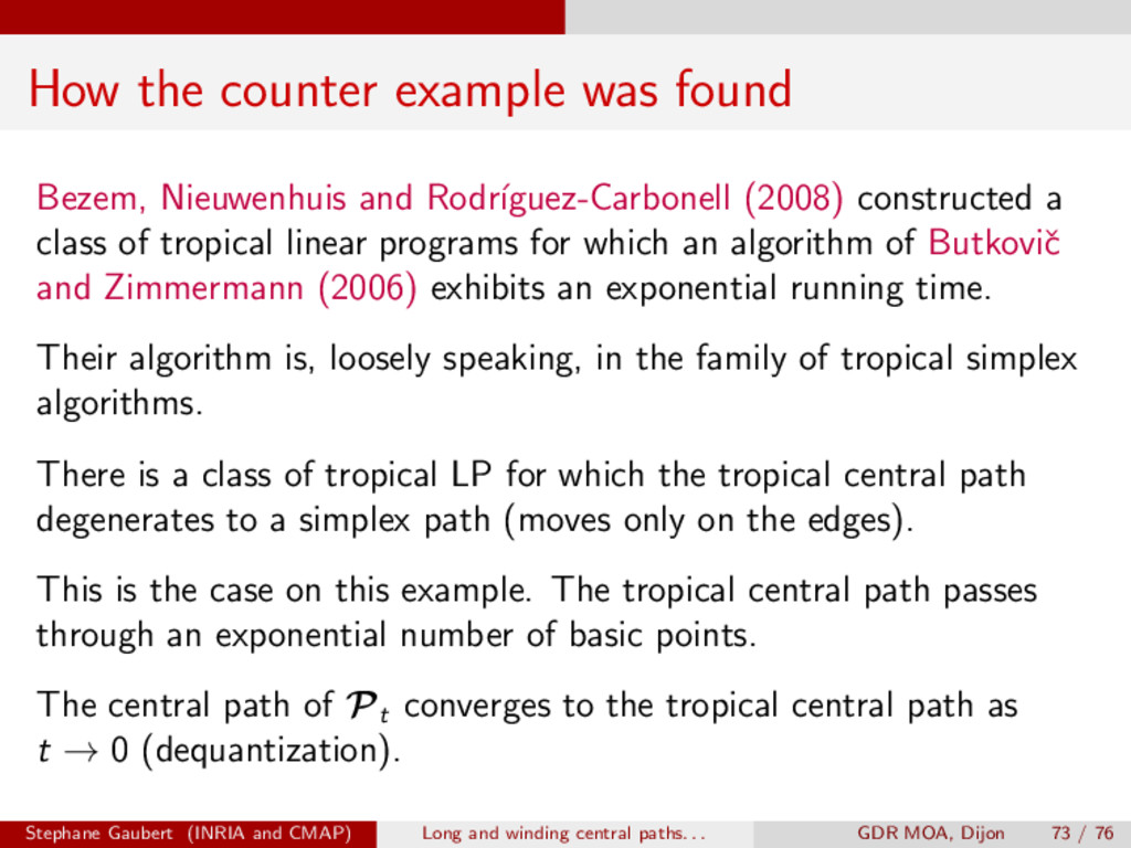 How the counter example was found Bezem, Nieuwe...
