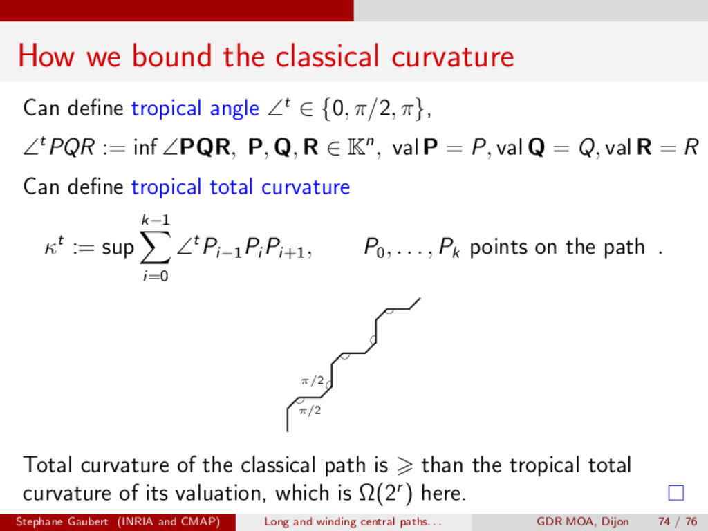 How we bound the classical curvature Can define ...
