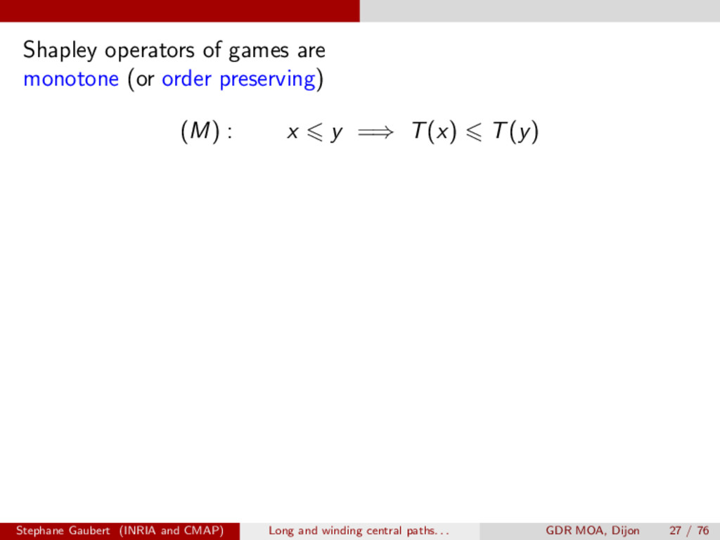 Shapley operators of games are monotone (or ord...