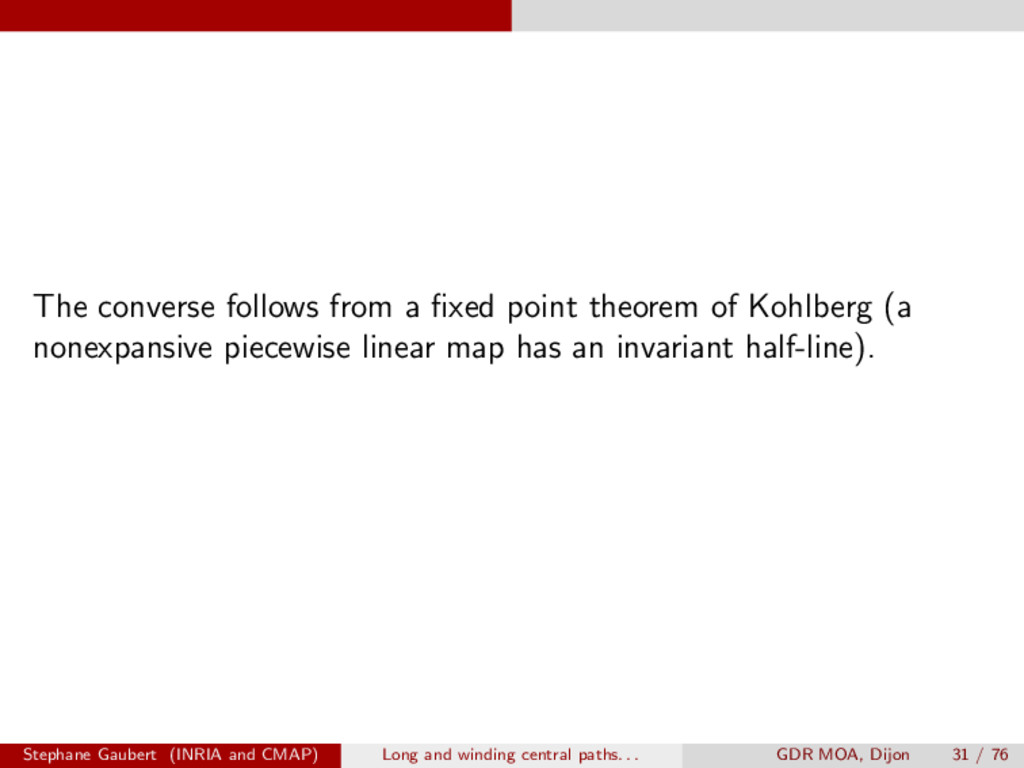 The converse follows from a fixed point theorem ...