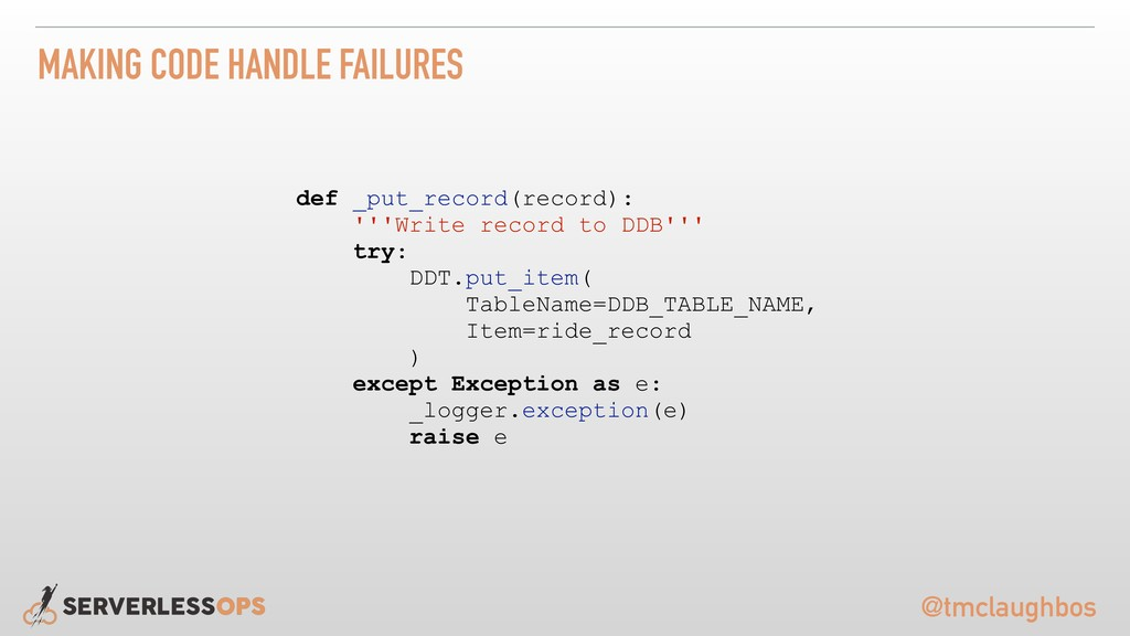 @tmclaughbos MAKING CODE HANDLE FAILURES def _p...