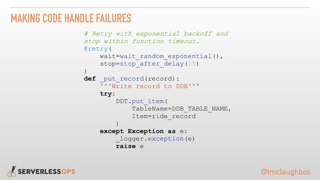 @tmclaughbos MAKING CODE HANDLE FAILURES # Retr...