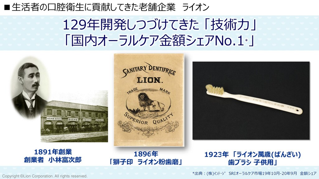 Copyright ©Lion Corporation. All rights reserve...