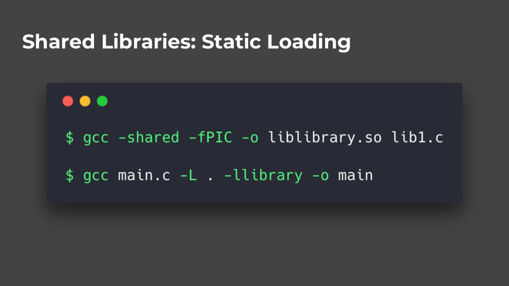 Shared Libraries: Static Loading