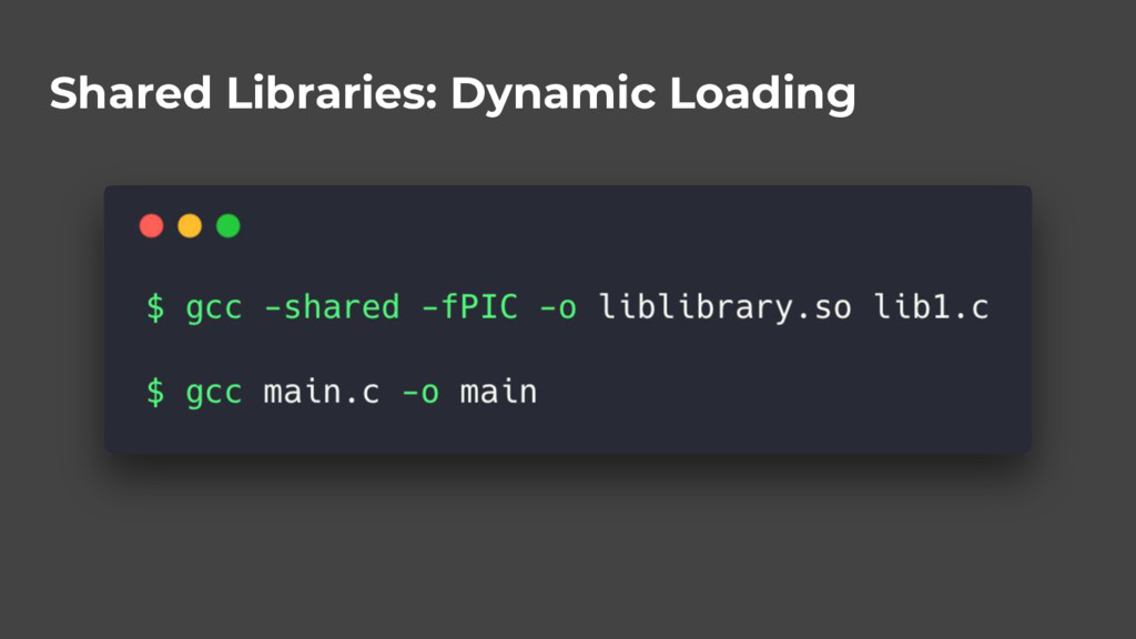 Shared Libraries: Dynamic Loading