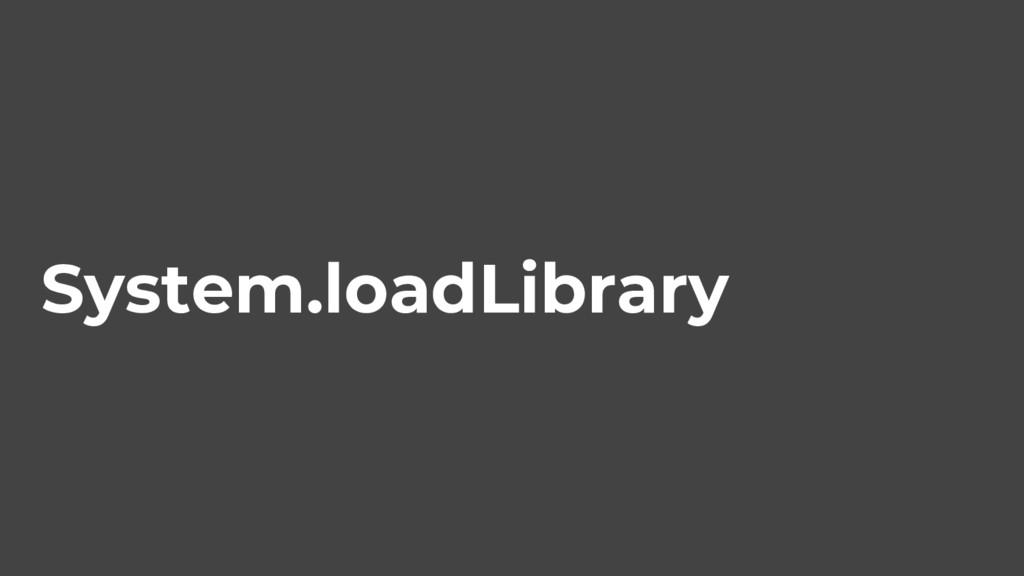 System.loadLibrary