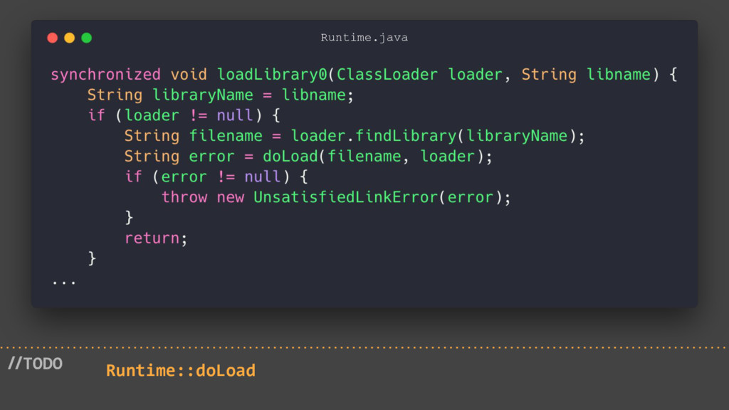 //TODO Runtime::doLoad Runtime.java
