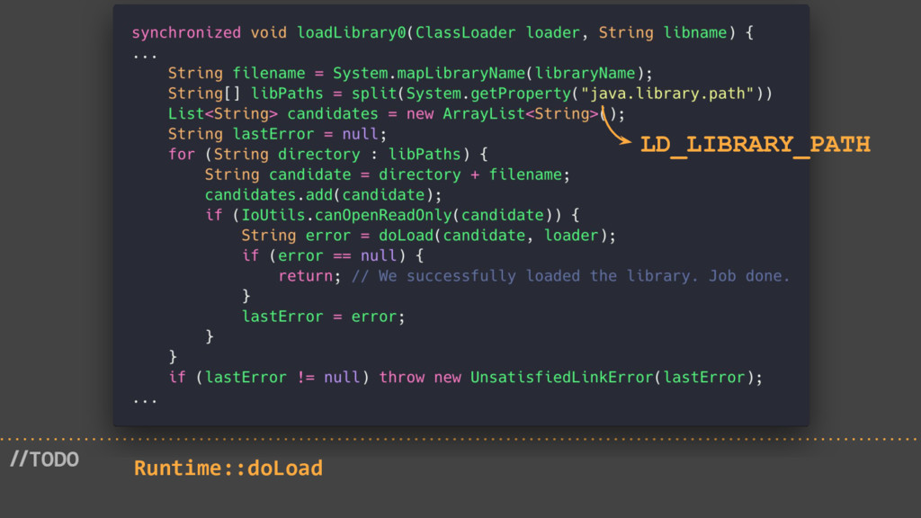 //TODO Runtime::doLoad LD_LIBRARY_PATH